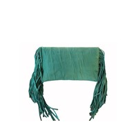 Turquoise Leather Clutch | Juliette | KiVARi Leather