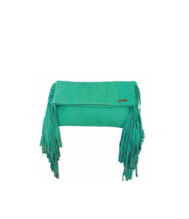 KiVARi Turquoise Leren Clutch | Juliette