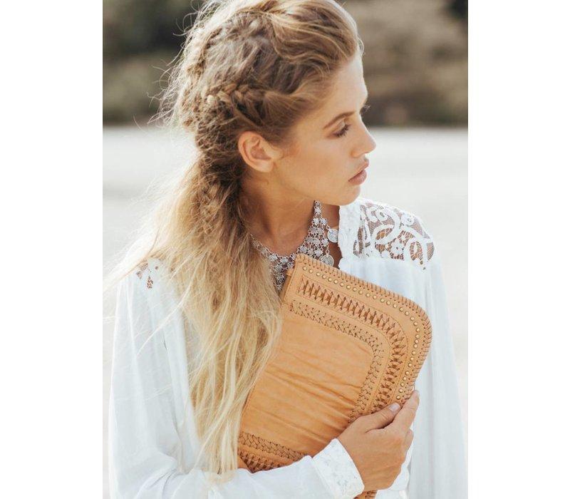 Leather Clutch | Favella | Tan