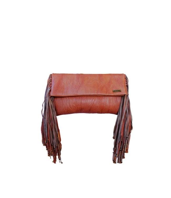 KiVARi Leather Clutch   Juliette   Tobacco
