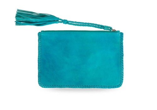 KiVARi Leather Clutch | Gypsy Eyes | Turquoise