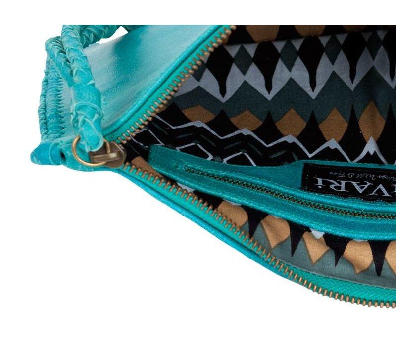 Turquoise Leather Clutch | Gypsy Eyes van KiVARi Leather