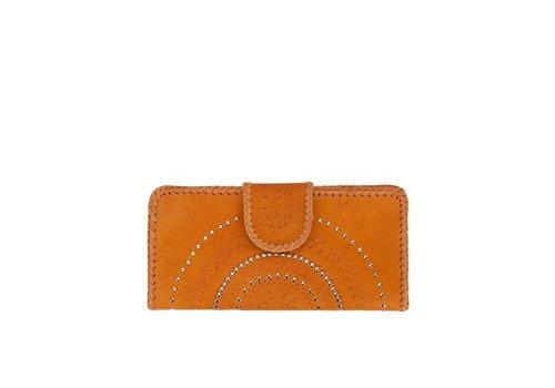Mahiya Leather Bruin Leren Clutch | Lilou