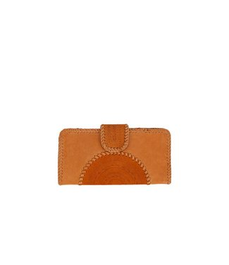 Mahiya Leather Bruin Leren Clutch | Valentina