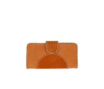 Mahiya Leather Bruin Leren Clutch | Valentina