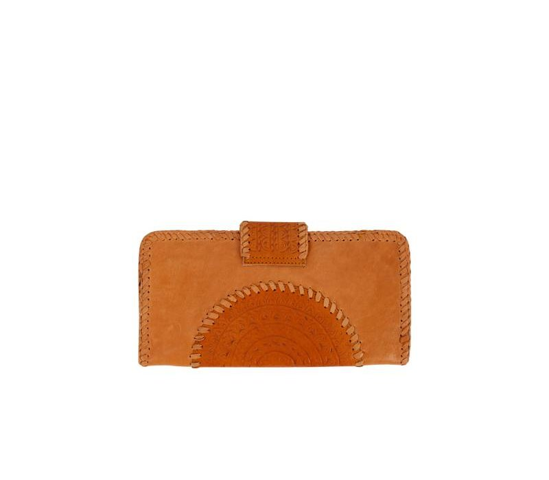 Tan Leather Clutch | Valentina from Mahiya Leather