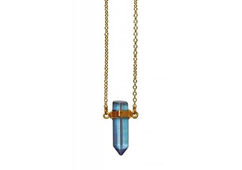"Keijewelry Aqua Aura Ketting 20"""