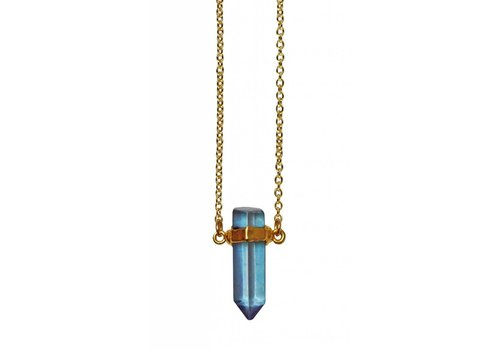 Keijewelry Layer Necklace Aqua Aura Point  20""