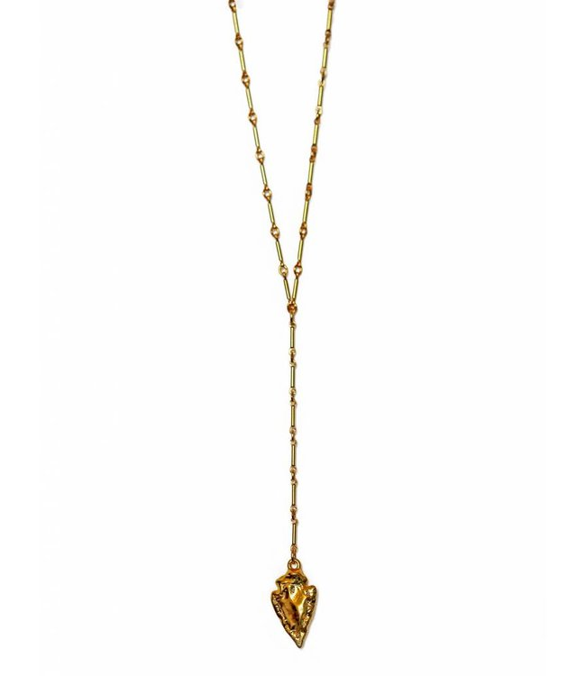 Keijewelry Layer Necklace Arrowhead Lariat 18""