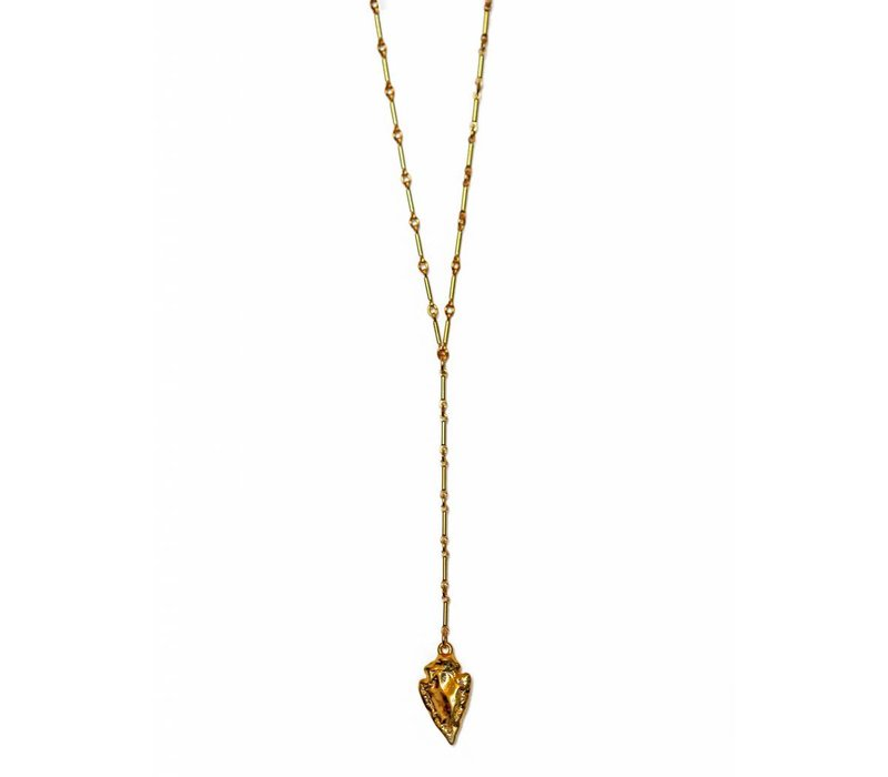 Layer Necklace Arrowhead Lariat 18""