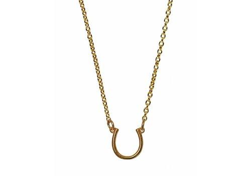 "Keijewelry Gouden Hoefijzer Ketting 16"""