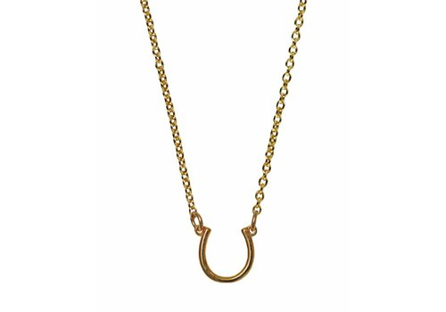 Keijewelry Layer Necklace Gold Horseshoe 16""