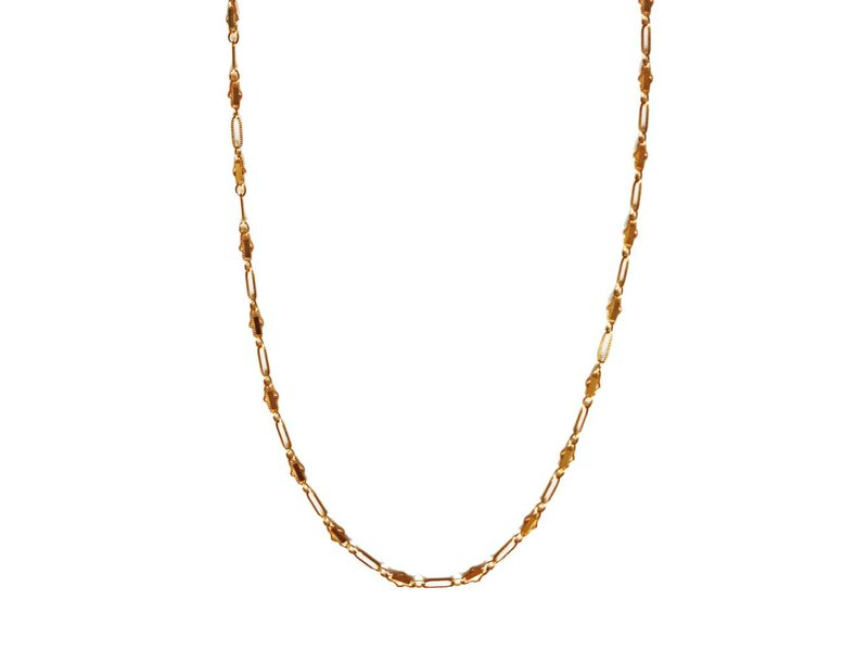 Keijewelry Korte Gouden Choker Ketting 16 inch