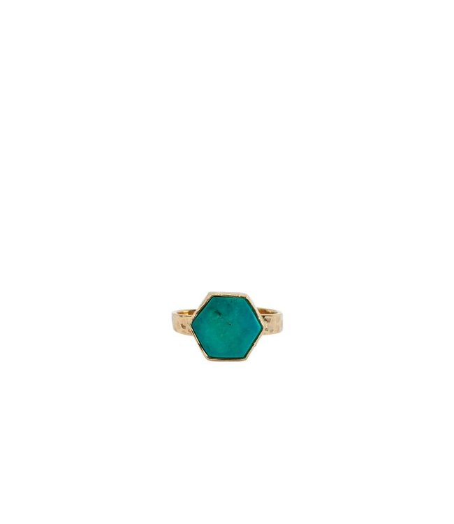 Route508 Gold Ring Aria | Turquoise