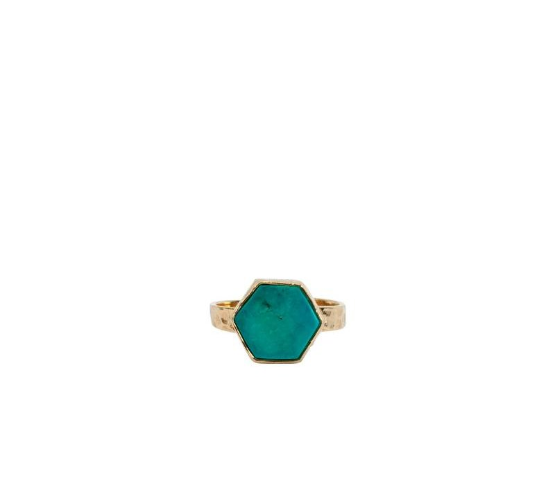 Gold Plated Ring Aria | Turquoise