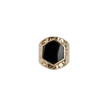 Route508 Gold Ring Lynx | Black Onyx