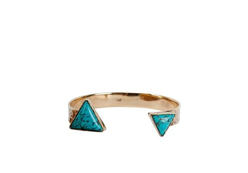 Route508 Gold Bracelet Luna Triangle | Turquoise