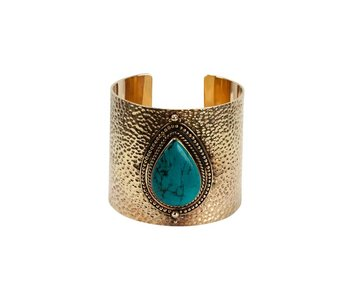 Route508 Gouden Armband Sheila | Turquoise