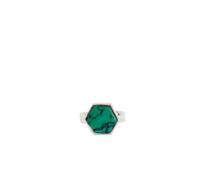 Turquoise Zilveren Ring Aria