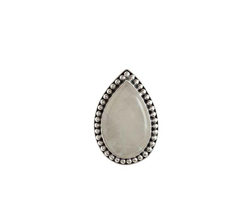 Zilveren Maansteen Ring Aurora