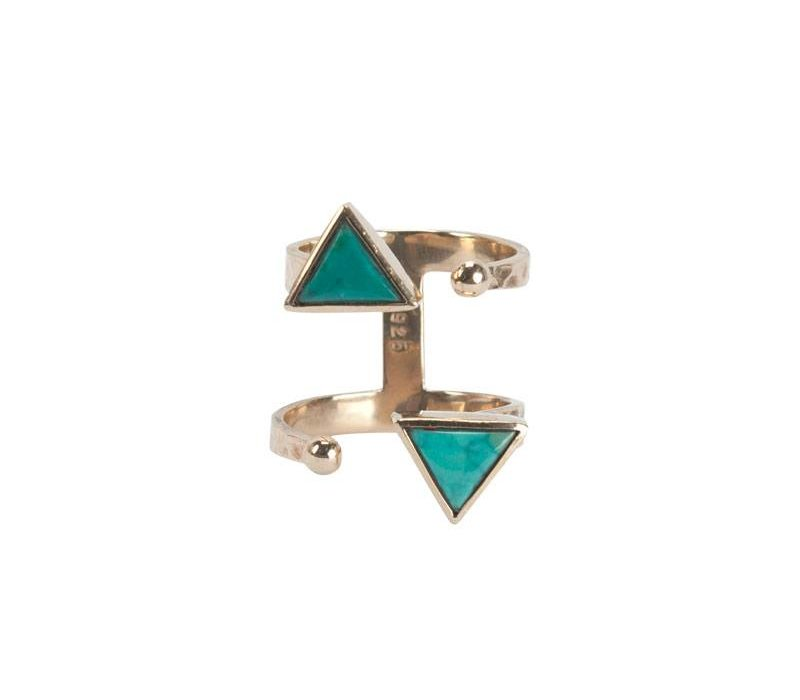Gouden Turquoise Ring Ryder