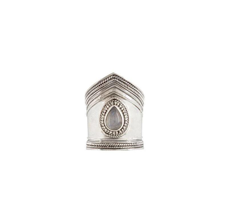 Zilveren Maansteen ring Elvira