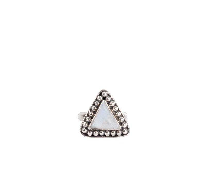 Sterling Zilveren Maansteen Ring Uma