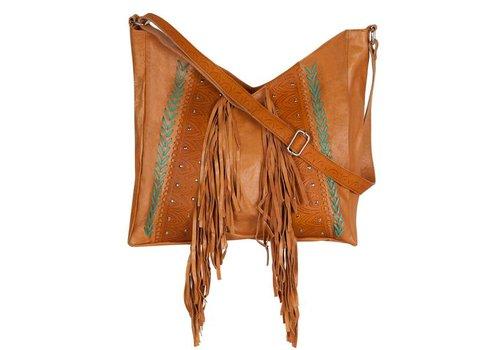 Mahiya Leather Bruin Leren Schoudertas ǀ Mazali