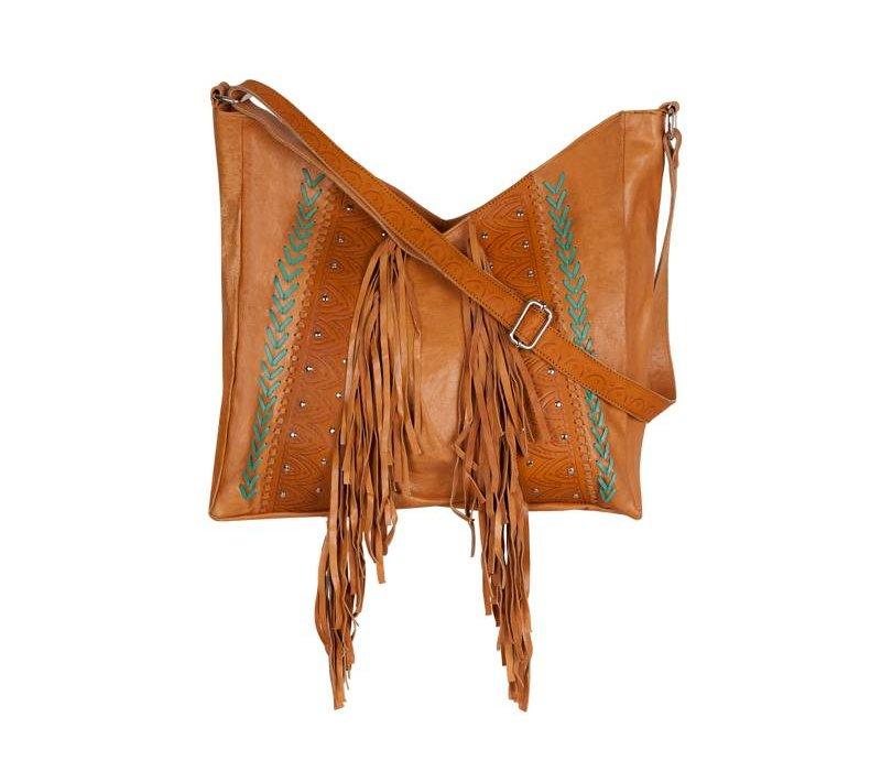 Tan Leather Shoulderbag ǀ Mazali