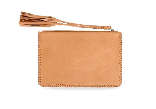 KiVARi Tan Leather Clutch | Gypsy Eyes