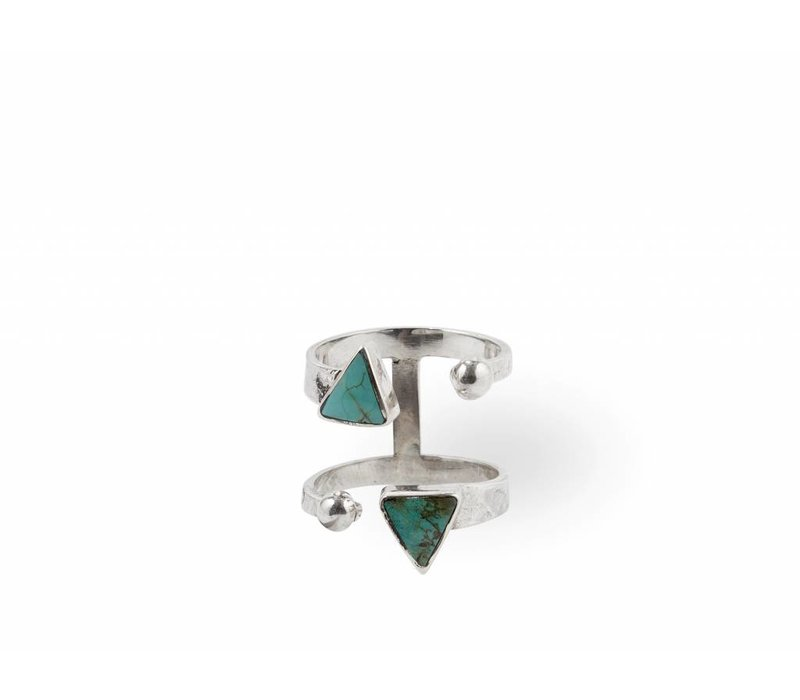 Sterling Silver Ring Ryder | Turquoise