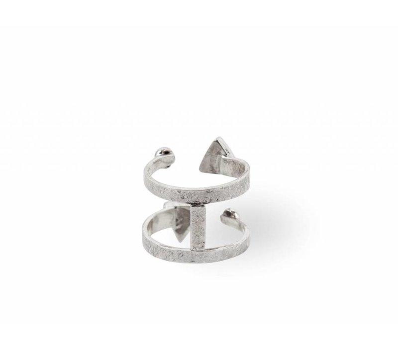 Sterling Zilveren Ring Ryder met Turquoise Edelsteen