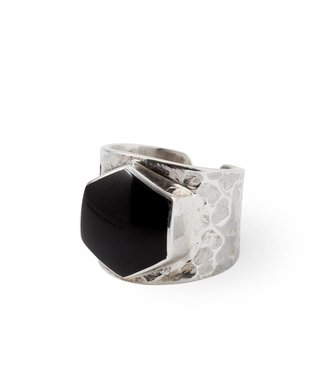 Route508 Silver Ring Lynx | Black Onyx