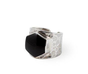 Route508 Zilveren Ring Lynx | Black Onyx