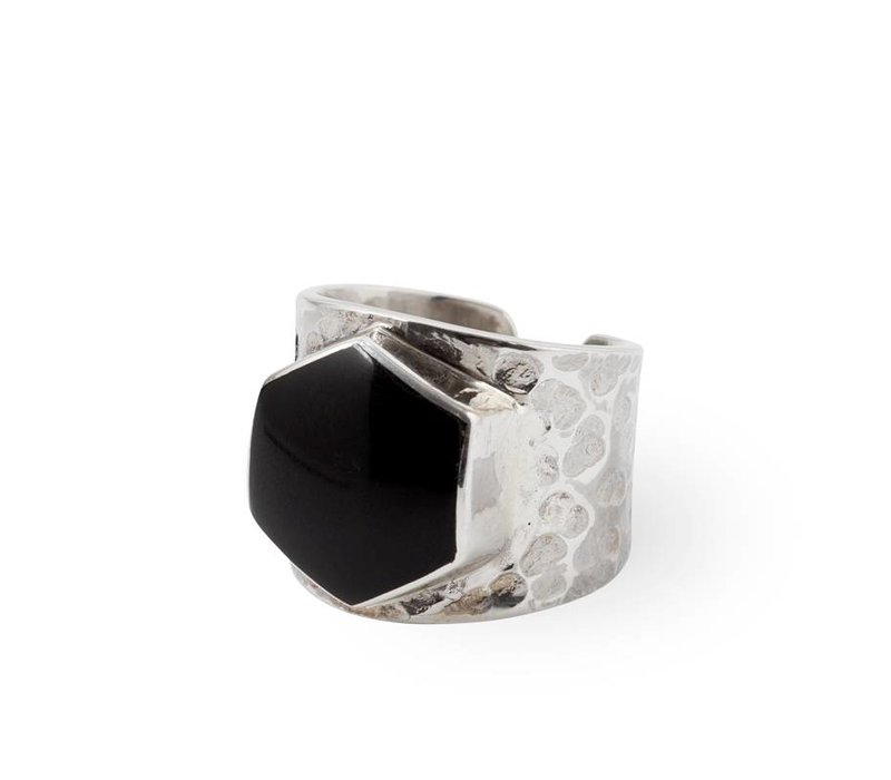 Sterling Zilveren Ring Lynx | Black Onyx