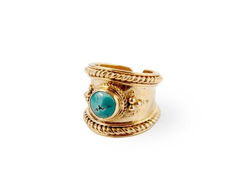 Route508 Gold Ring Bohème | Turquoise