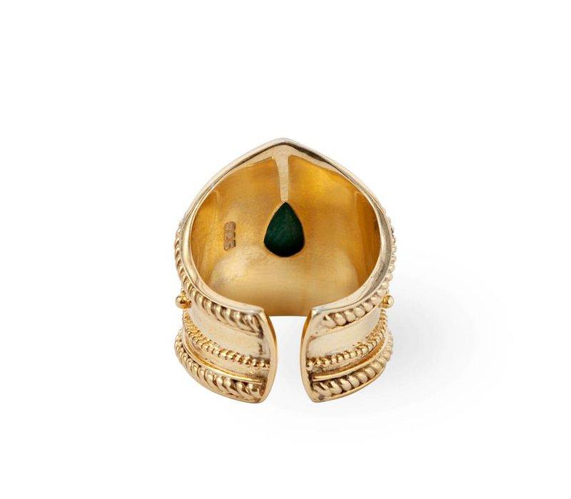 Verguld Zilver Turquoise Ring Amalia