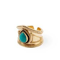 Golden Ring Amalia | Turquoise Gemstone