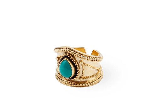 Route508 Goud Vermeil Turquoise Ring Amalia