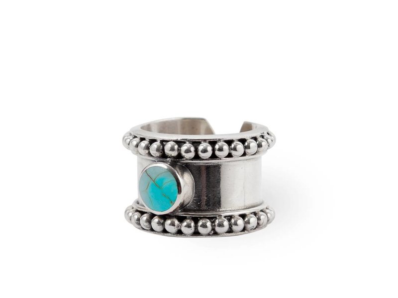 Route508 925 Sterling Zilveren Ring Cleo  | Turquoise