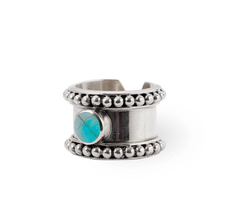 925 Sterling Zilveren Ring Cleo  | Turquoise