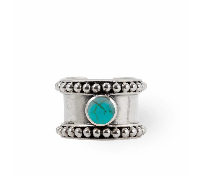 Sterling Silver Ring Cleo  | Turquoise