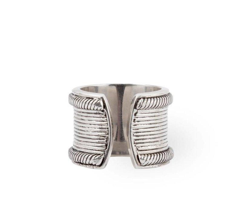 925 Sterling Zilveren Ring River