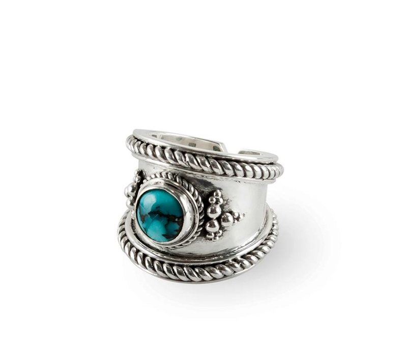 Sterling Silver Ring Bohème | Turquoise Gemstone