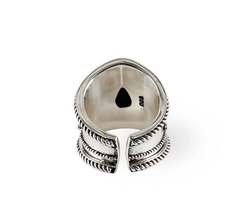 Zilveren Ring Amalia | Turquoise Edelsteen