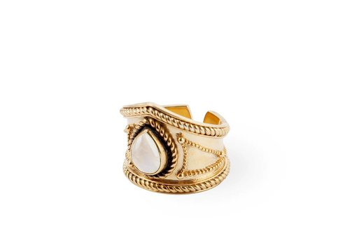Route508 Gold Plated Moonstone Ring Amalia