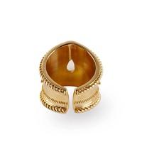 Gold Plated Moonstone Ring Amalia