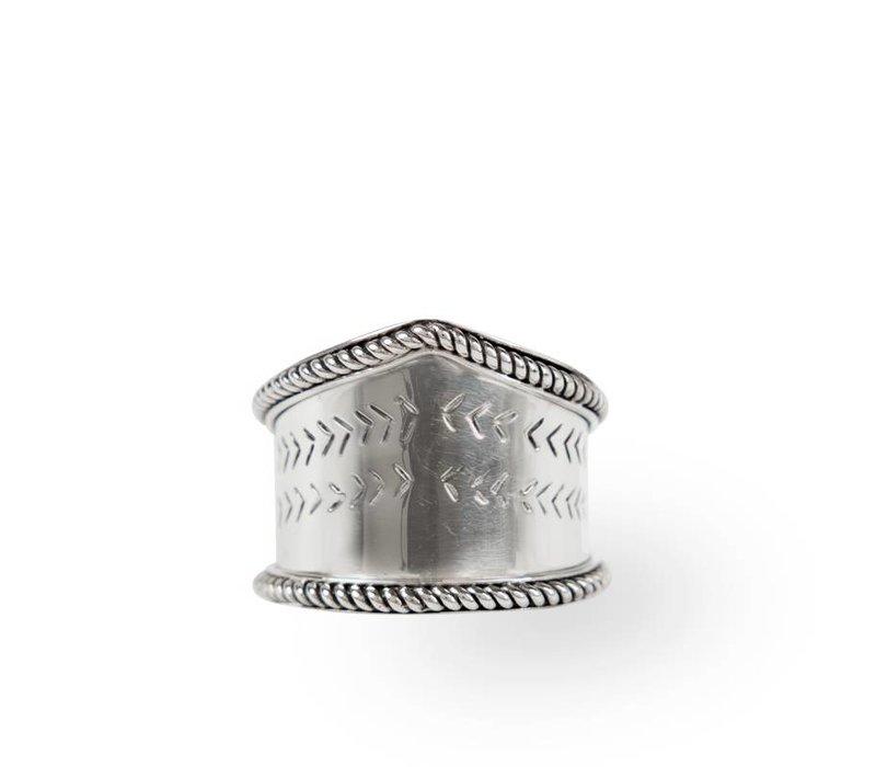 925 Sterling Zilveren Ring Aroha