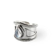 Sterling Zilveren Ring Amalia met Maansteen Edelsteen