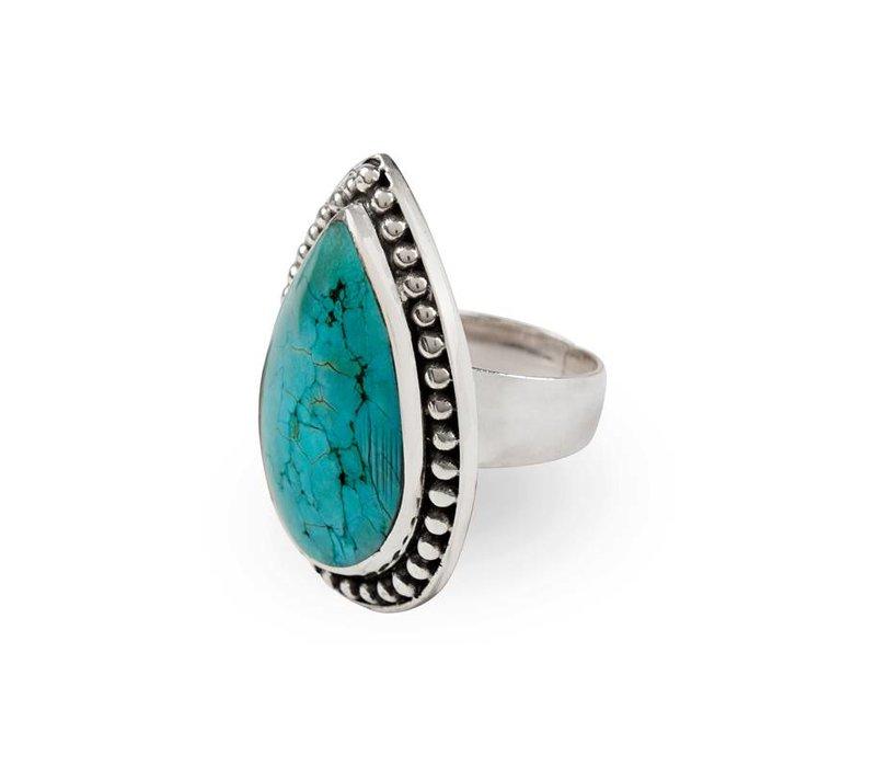 Sterling Zilveren Turquoise Ring Aurora